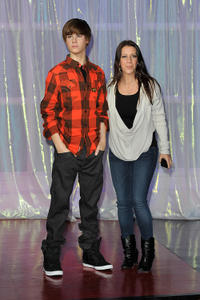Pattie Mallette at the Unveils Justin Bieber Waxwork at Madame Tussauds in London.