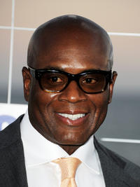 L.A. Reid at the FOX All-Star party in California.