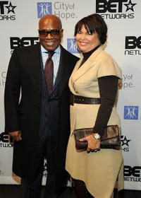 L.A. Reid and Chairman and CEO of BET Debra Lee at the City Of Hope's Music and Entertainment Industry presents
