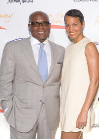 L.A. Reid and Erica Reid at the New York Gala benefiting The Steve Harvey Foundation.