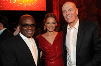 L.A. Reid, EVP of DKMS Americas Katharina Harf and founder of DKMS Peter Harf at the DKMS' 4th Annual Gala: Linked Against Leukemia in New York.