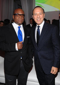 L.A. Reid and Tommy Mottola at the launch of Vevo's Premium Music Video and Entertainment in New York.