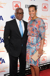L.A. Reid and Erica Reid at the 2nd Annual Steve Harvey Foundation Gala in New York.