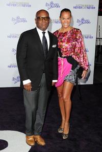 L.A. Reid and Erica Holton at the California premiere of