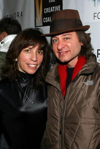 Robin Bronk and Fisher Stevens at the 2008 Sundance Film Festival.