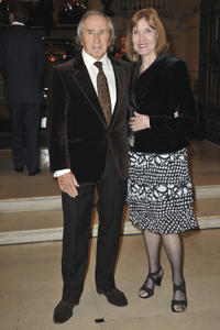 Jackie Stewart and Helen Stewart at the Launch of Ralph Lauren Vintage Cars Exhibition Gala Dinner in France.