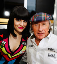 Singer Jessie J and Jackie Stewart at the F1 Rocks event during the Brazilian Formula One Grand Prix in Brazil.