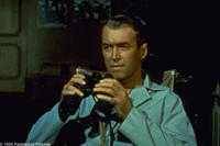 A scene from the movie Rear Window.