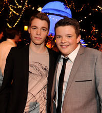Gabriel Basso and Riley Griffiths at the after party of the California premiere of