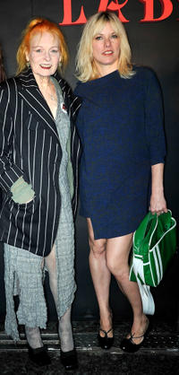 Vivienne Westwood and Sarah Stockbridge at the London Fashion Week Spring/Summer 2012.