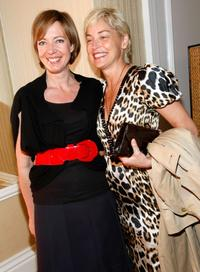 Sharon Stone and Allison Janney at the Diamond Information Center and InStyle Diamond Fashion Show.