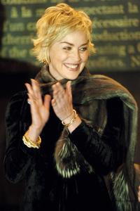 Sharon Stone at the Paris official opening of the biggest Nespresso store in the world.
