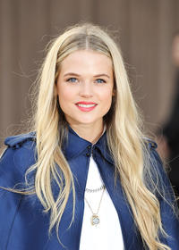 Gabriella Wilde at the Burberry Prorsum Autumn Winter 2013 Womenswear Show.