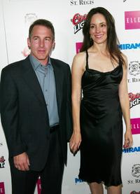 Brian Benben and Madeleine Stowe at the Miramax Pre-Oscar Max Awards party.