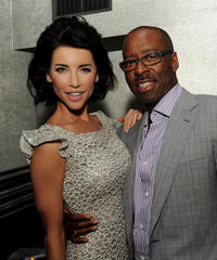 Jacqueline MacInnes-Wood and Courtney B. Vance at the after party of California premiere of