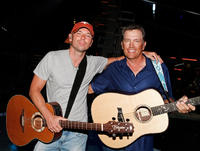 Musician Kenny Chesney and George Strait at the rehearsals of the 43rd Academy of Country Music Awards in Nevada.