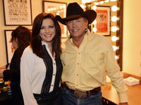 Martina McBride and George Strait at the Cowboy Rides Away 2012-2014 final tour.