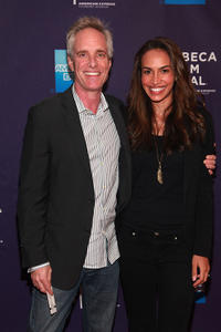 Richard Bekins and Nina Lisandrello at the premiere of