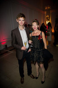 Thomas Brodie-Sangster and Tasha Bertram at the English National Ballet's summer party in England.