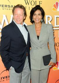 Peter Strauss and Rachel Ticotin at the premiere of
