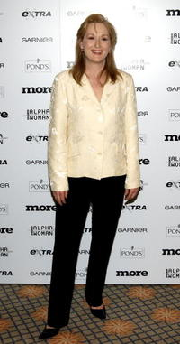 Meryl Streep at the inaugural More Alpha Woman Award in Beverly Hills, California.