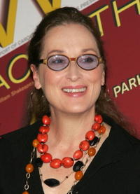 Meryl Streep at the after party for the premiere of 'Mother Courage And Her Children' in New York City.
