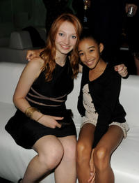 Jacqueline Emerson and Amandla Stenberg at the after party of the California premiere of