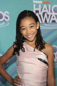 Amandla Stenberg at the Nickelodeon TeenNick HALO Awards in California.