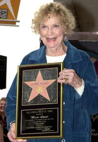 Gloria Stuart at the Hollywood Walk of Fame.