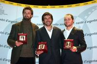 Kim Rossi Stuart, Pierfrancesco Favino and Claudio Santamaria at the Italian Movie Awards.