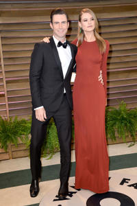 Adam Levine and Behati Prinsloo at the 2014 Vanity Fair Oscar Party in California.