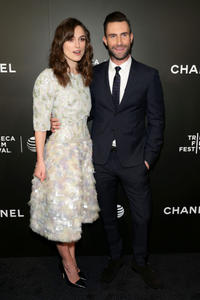 Keira Knightley and Adam Levine at the 2014 Tribeca Film Festival of