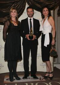 Imogen Stubbs, Khaled Hosseini and Marie Helvin at the Galaxy British Book Awards.