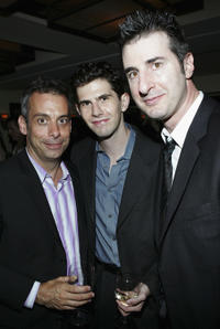 Director Joe Mantello, Daniel Eric Gold and playwright Jon Robin Baitz at the after party of the Broadway opening night of