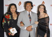 Arigon Starr, Wes Studi and Delanner Studi at the American Indian College Fund Gala.