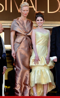 Tilda Swinton and Kara Hayward at the opening night of the premiere of