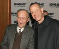 Tom Aldredge and Mark Blum at the curtain call for the Roundabout Theatre Company's Broadway premiere of