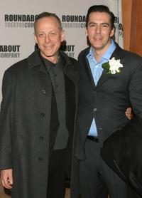 Mark Blum and Adam Trese at the curtain call for the Roundabout Theatre Company's Broadway premiere of