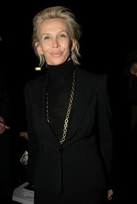 Trudie Styler at the Gianni Versace Fashion Show.