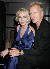 Trudie Styler and Sting at the London Fashion Week 2007.