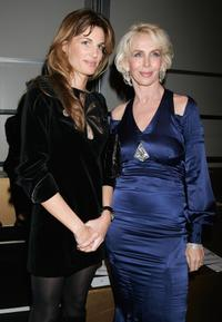 Jemima Khan and Trudie Styler at the London Fashion Week 2007.