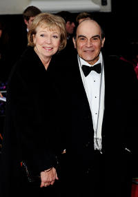 David Suchet and Sheila Suchet at the Olivier Awards 2011 in London.