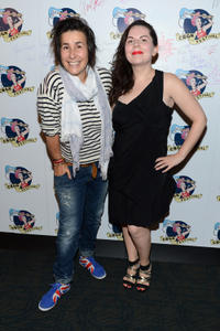 Sara Sugarman and Hazel Baillie at the 2012 CBGB Festival Film Premieres.
