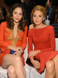 Katharine McPhee and Nina Arianda at the Michael Kors during the Spring 2013 Mercedes-Benz Fashion Week in New York.
