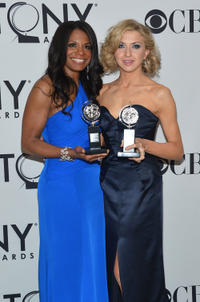 Audra McDonald and Nina Arianda at the 66th Annual Tony Awards in New York.