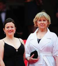 Gisella Salcher and Christine Kain at the France premiere of