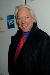 Donald Sutherland at the 5th Annual Tribeca Film Festival, attends the premiere of