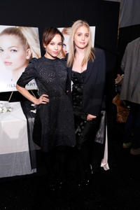 Zoe Kravitz and Sophie Curtis at the Jill Stuart Fall 2013 Fashion Show during the Mercedes-Benz Fashion Week.