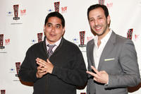 Kristoffer Diaz and Desmin Borges at the 26th Annual Lucille Lortel Awards in New York.