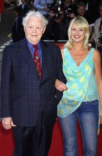 Dudley Sutton and his girlfriend at the UK premiere of